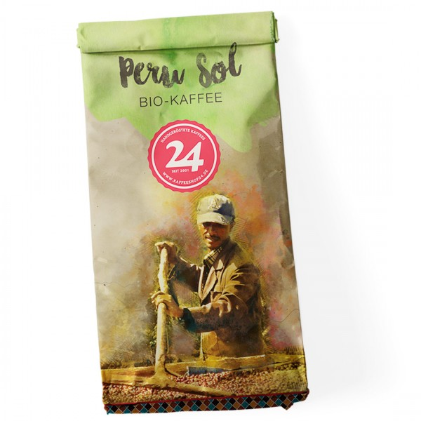 Peru Sol Bio Kaffee Bohne 250 g